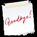 he walk-away wife's goodbye